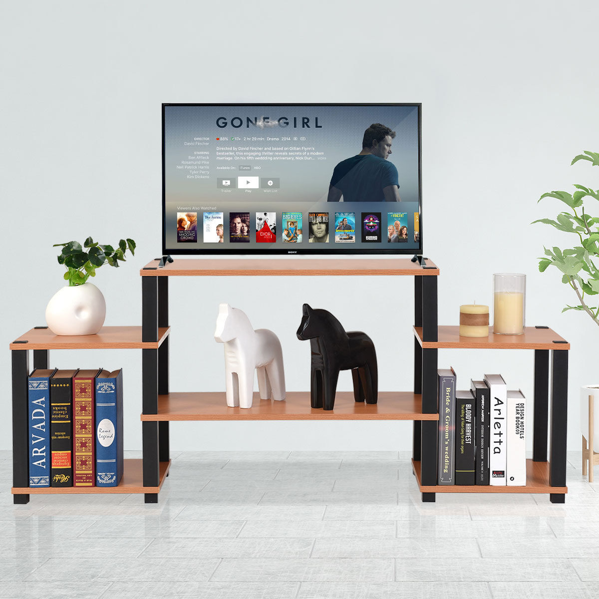 Costway TV Stand Entertainment Center Media Console Furniture Storage Cabinet