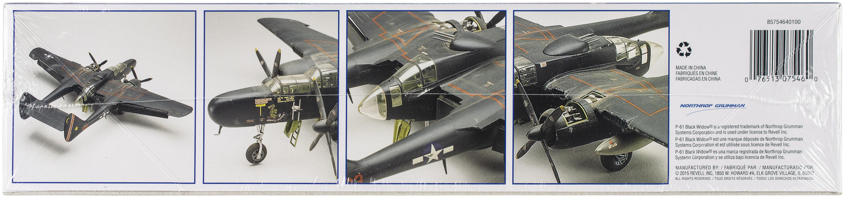 Plastic Model Kit P-61 Black Wicow 1:48 076513075460
