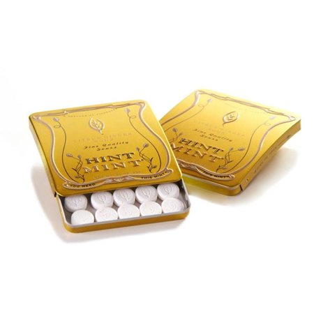 Hint Mint Classic Mints Citrus Ginger Flavor 0.81 Oz. Curved Chic Tin 35 -