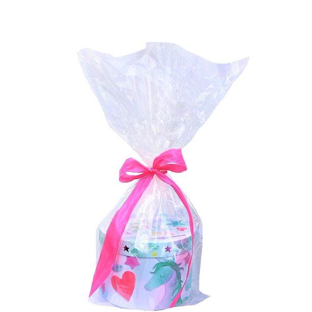 10 Clear Cello / cellophane Basket Bags