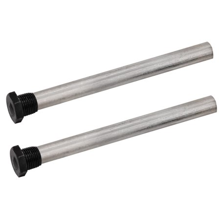 "Quick Products QP-MAR9.5 Magnesium Anode Rod for Atwood 10 Gal Water Heaters (Repl 11593) - 9.5"", 1/2"" NPT, 2-Pack"