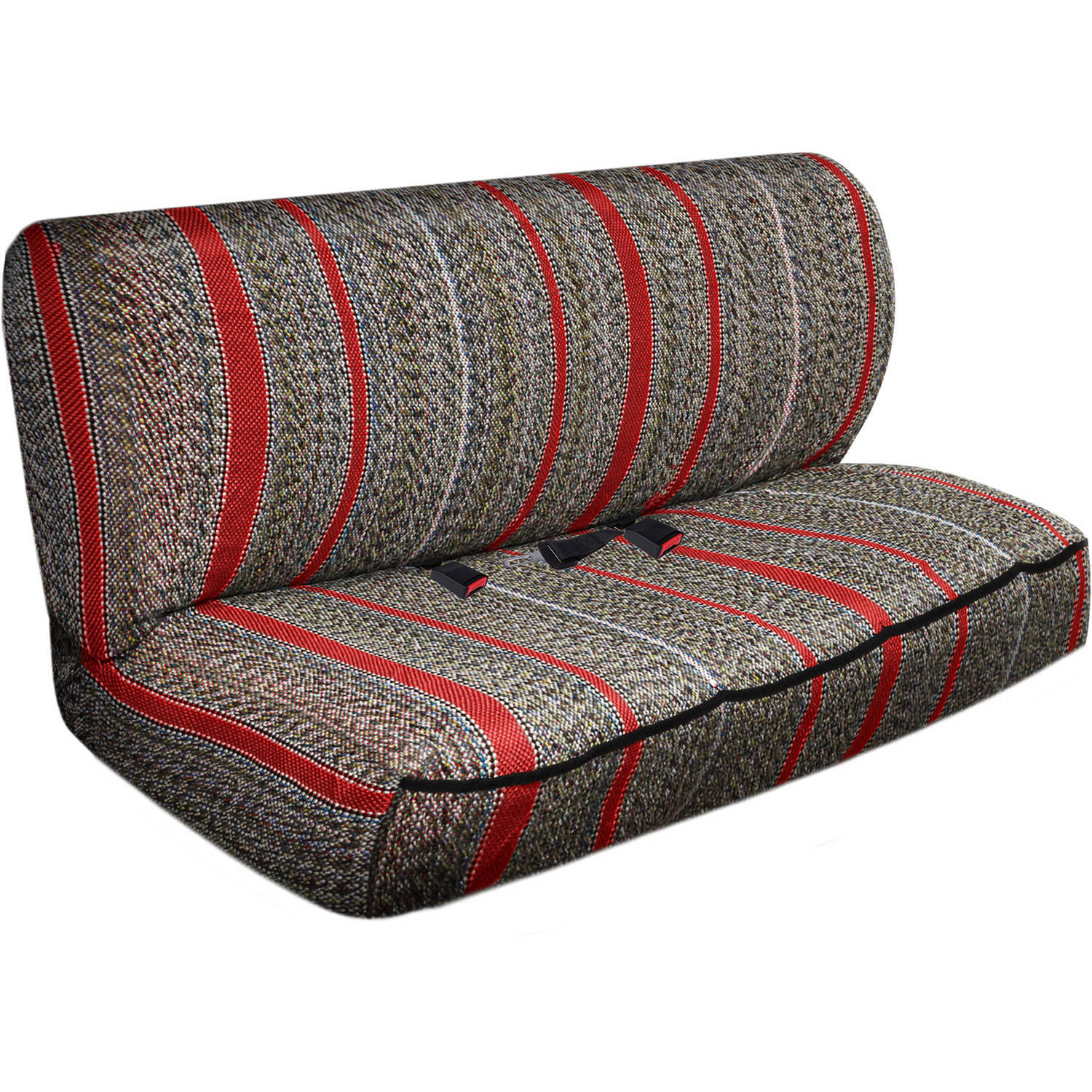 OxGord 2-Piece Full Size Heavy Duty Saddle Blanket Bench Seat Covers, Red