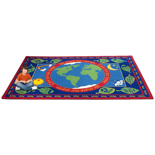 Kid Carpet Earth Educational World Area Rug