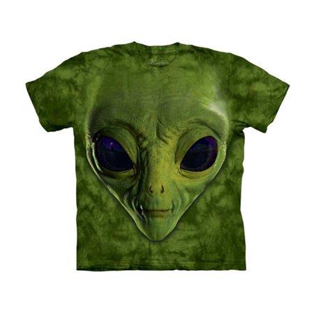 The Mountain Kids 100% Cotton Alien Face Graphic Novelty T-Shirt - Alien Novelties