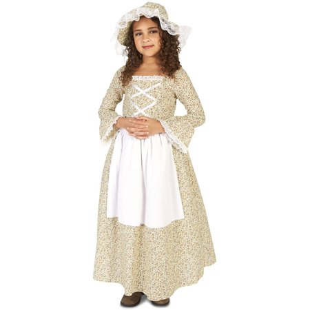 Colonial Times Girl Child Halloween Costume (13 Abc Halloween Times)