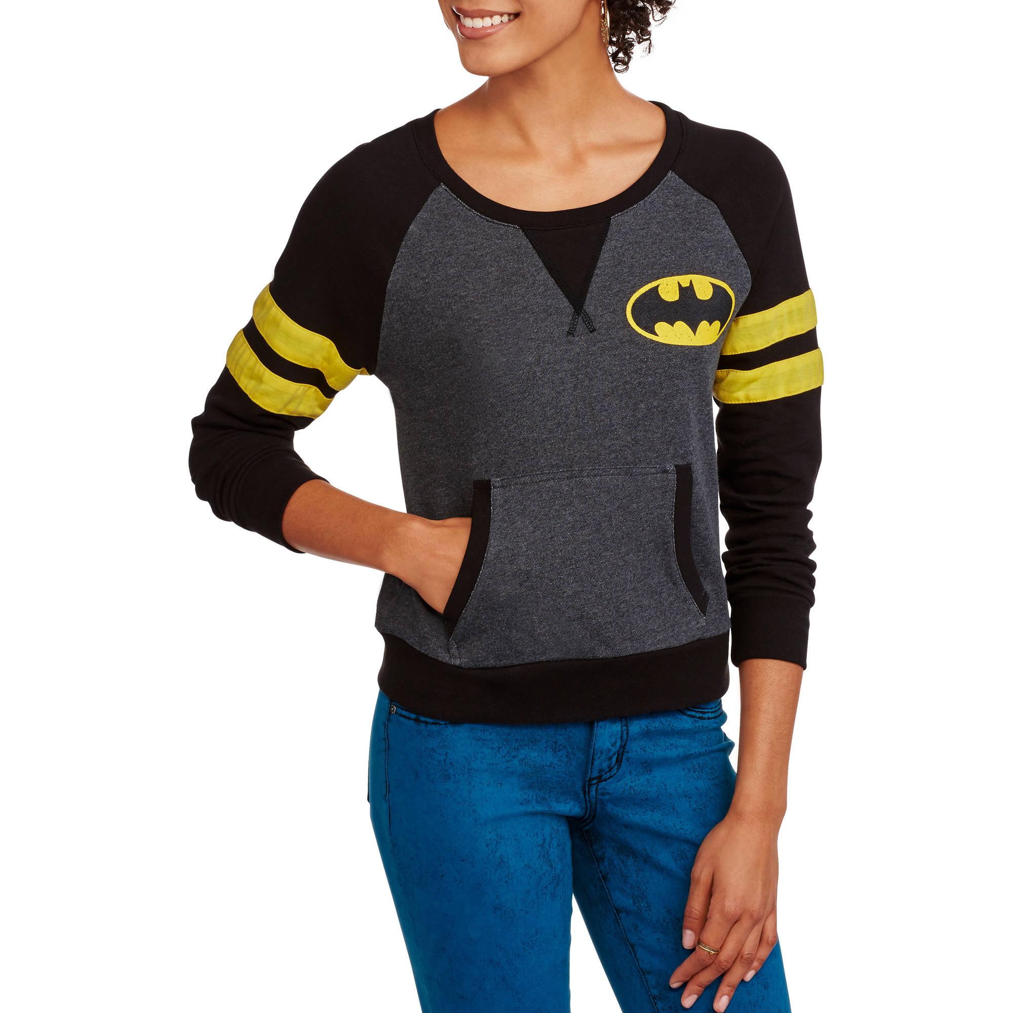 Batman Juniors' Graphic French Terry Varsity Raglan Pullover