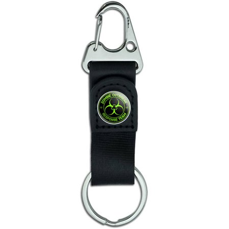 Green Belt Clip On Carabiner Leather Keychain Fabric Key (Best Clip Lights)