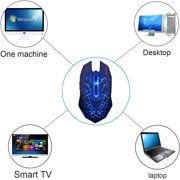 Freedo 2. 4GHz Wireless  Noiseless Mouse, Gaming Mouse  Rechargeable For for Laptop and Computer,Colorful LED Lights BLUE - image 6 of 8