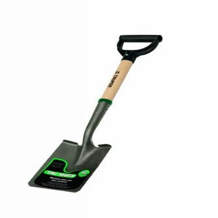 Truper 31197 Tru Tough 19-Inch Short D-Handle Square Point Shovel, 19-Inch Wood