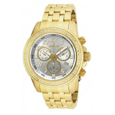 7edc36bbe Invicta - Invicta Pro Diver Chronograph Silver Dial Gold-plated Mens Watch  16262 - Walmart.com