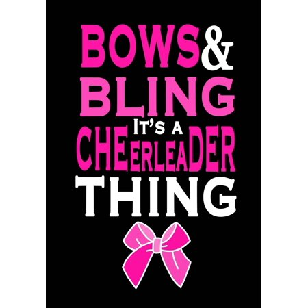 Bows & Bling; Its a Cheerleader Thing! (Cheerleading Journal for Girls): Blank & Lined Journal Notebook for Kids; Cute Journal for Use as Daily Diary or School Notebook; Ideal for - Girl Cheerleading Costume