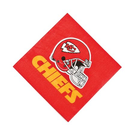Nfl Kansas City Chiefs Lunch Napkins for Party - Party Supplies - Licensed Tableware - Licensed Napkins - Party - 16 Pieces