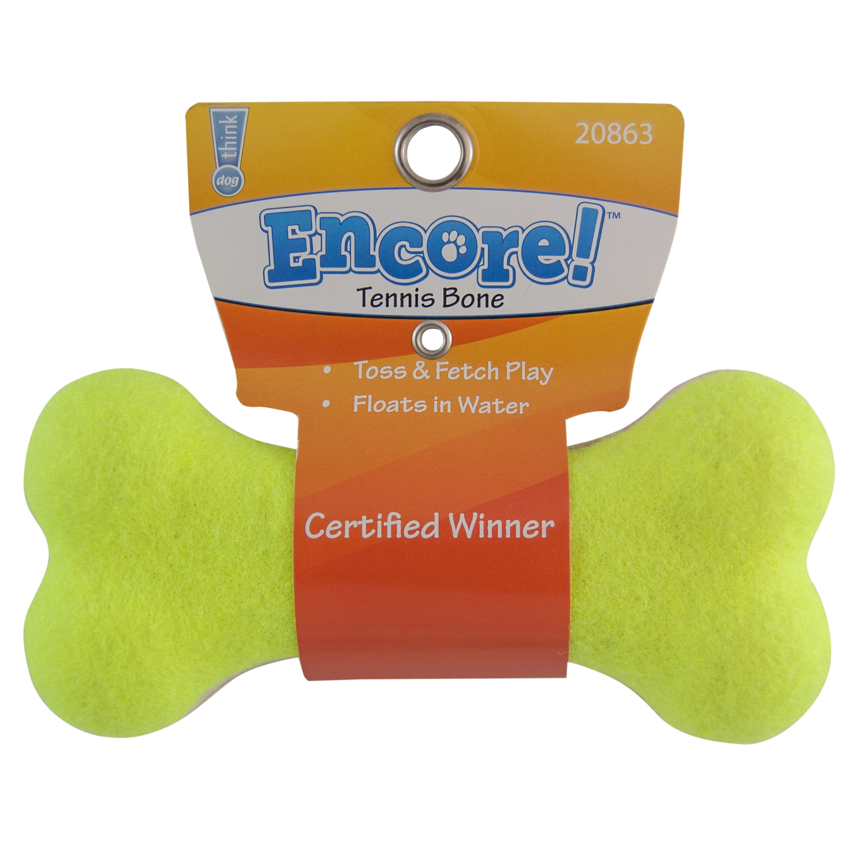 Encore Large Tennis Bone Dog Toy