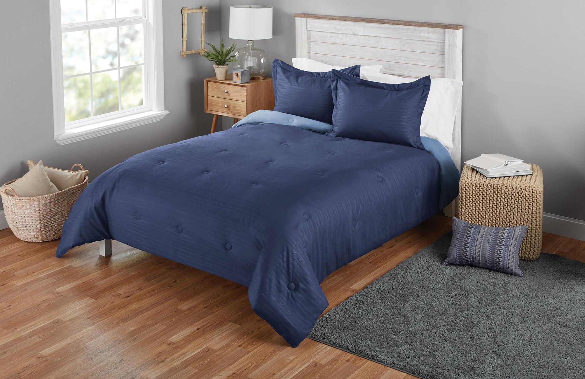 Mainstays Solid Seersucker Mini Comforter Sets by SUZHOU YUNKAI HOME TEXTILE CO., LTD