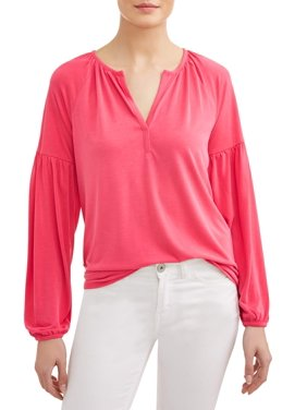 d833ef8719315 Product Image Women s Long Balloon Sleeve Peasant Top