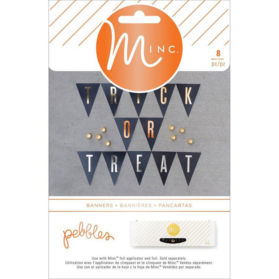 Minc Halloween Banner Pennants, 12pk, Pebbles Trick Or Treat