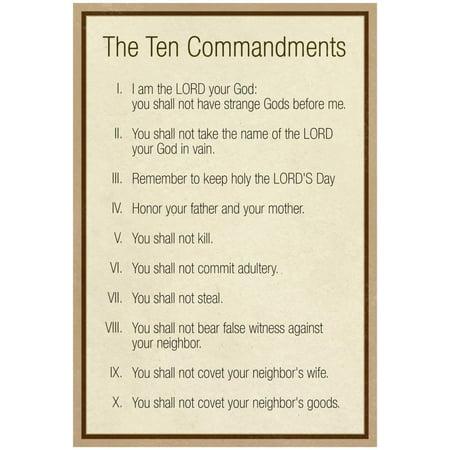 The Ten Commandments - Catholic Poster - 13x19 - Ten Commandments Poster