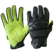 Missing Link Tactical Action Gloves with Kevlar (Black/Hi-Viz Green) TAGG