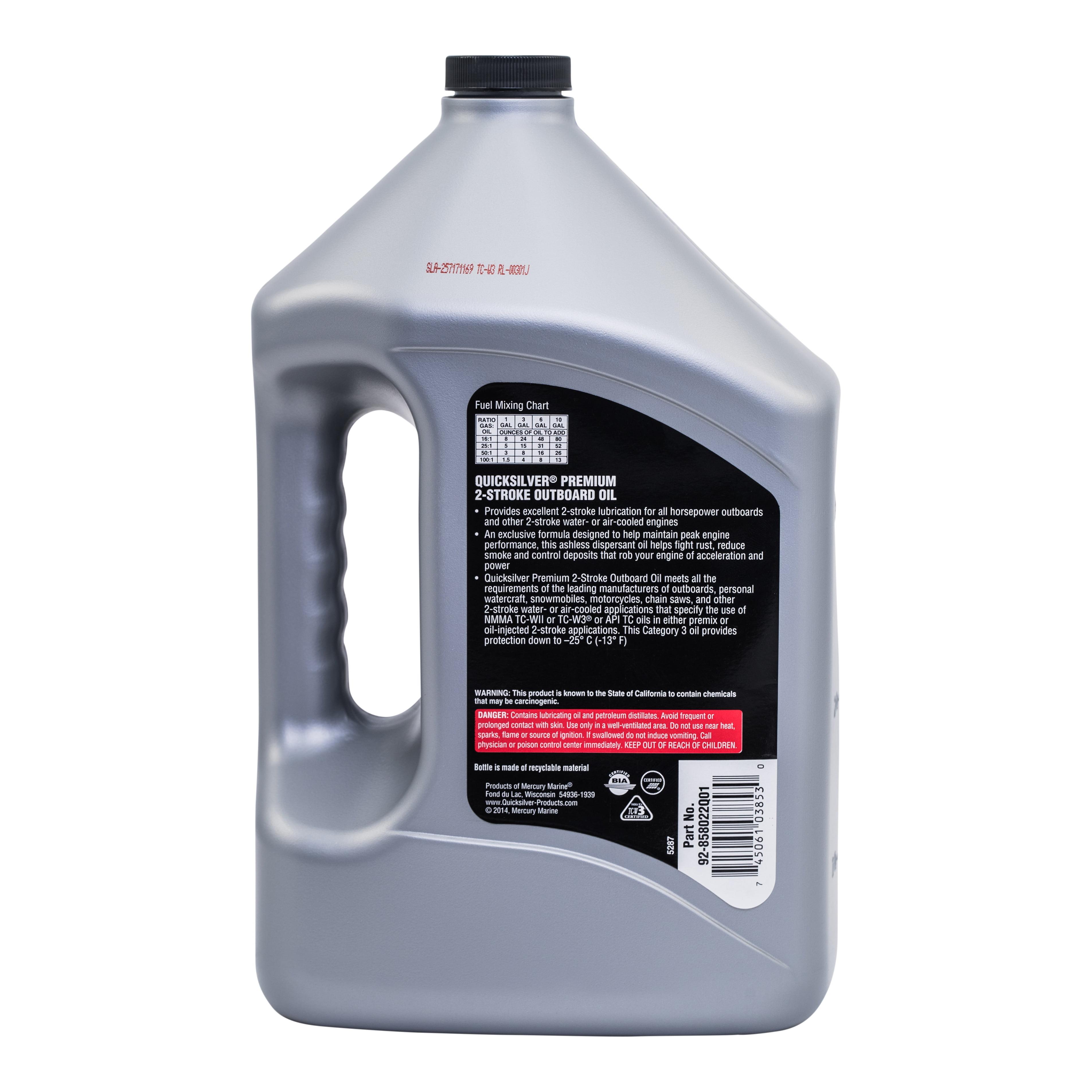 Quicksilver 2-Cycle Premium Outboard Oil TCW3 - 1 Gallon - Walmart com
