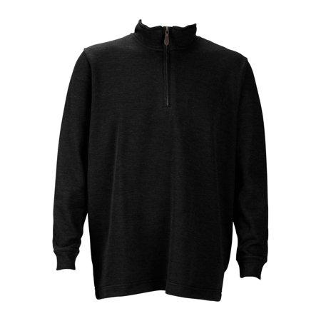 Mens 1 4 Zip Flat Back Rib Pullover  Color  Black