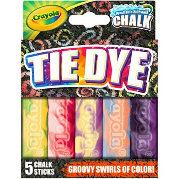 Crayola Washable Tie Dye Sidewalk Chalk 5 Anti Roll Chalk Sticks Outdoor Toy Easter Basket Stuffers Gift Walmart Com Walmart Com