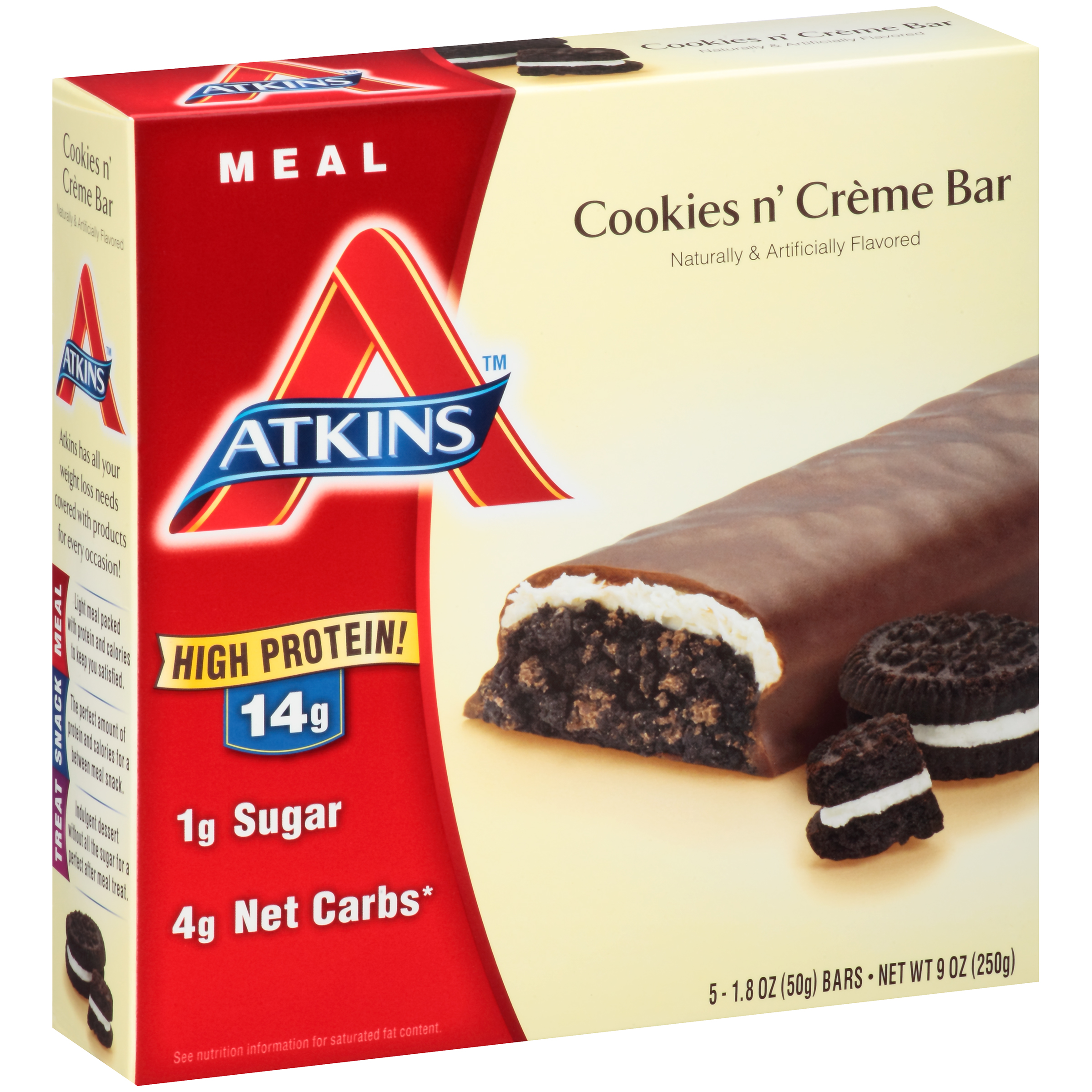 Atkins Meal Cookies N Cr��me Bars 5-pack