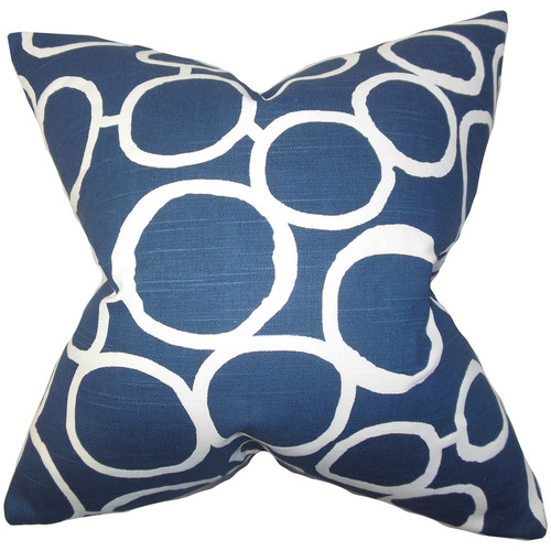 The Pillow Collection Franca Geometric Cotton Throw Pillow