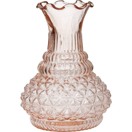 Luna Bazaar Vintage Glass Vase 575 Inch Sophia Ruffled Genie