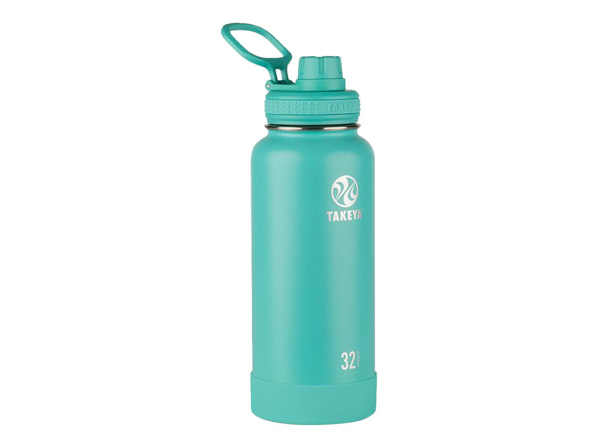 Takeya Actives 32oz Insulated Stainless Steel Water Bottle with Spout Lid - Teal
