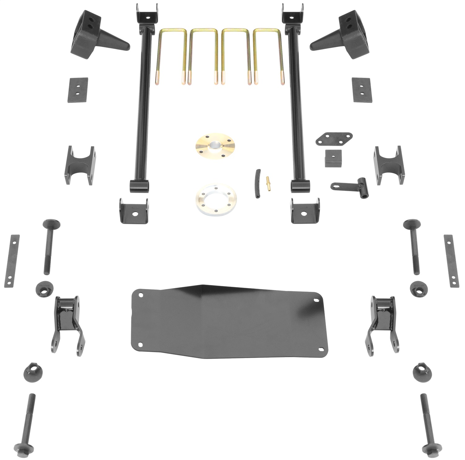 Rancho RS66506B-4 Suspension System; 6 in. Front Lift; 4 in. Lift Rear; Kit; Box 4; Black Kit;
