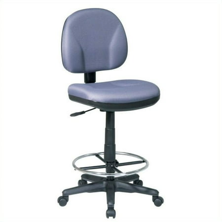 Office Star DC Series Drafting Chair with Stool Kit in Gray