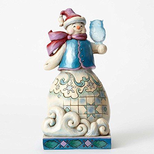 ENESCO Jim Shore HWC Figurine Wondr Snowman/Snowf Figurine