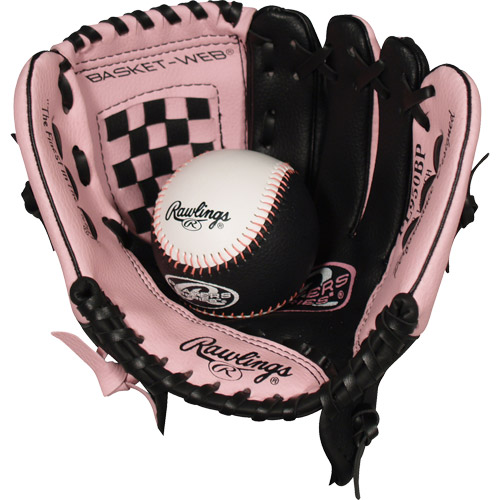 "Rawlings 9.5"" TBall Glove and Ball- Pink"