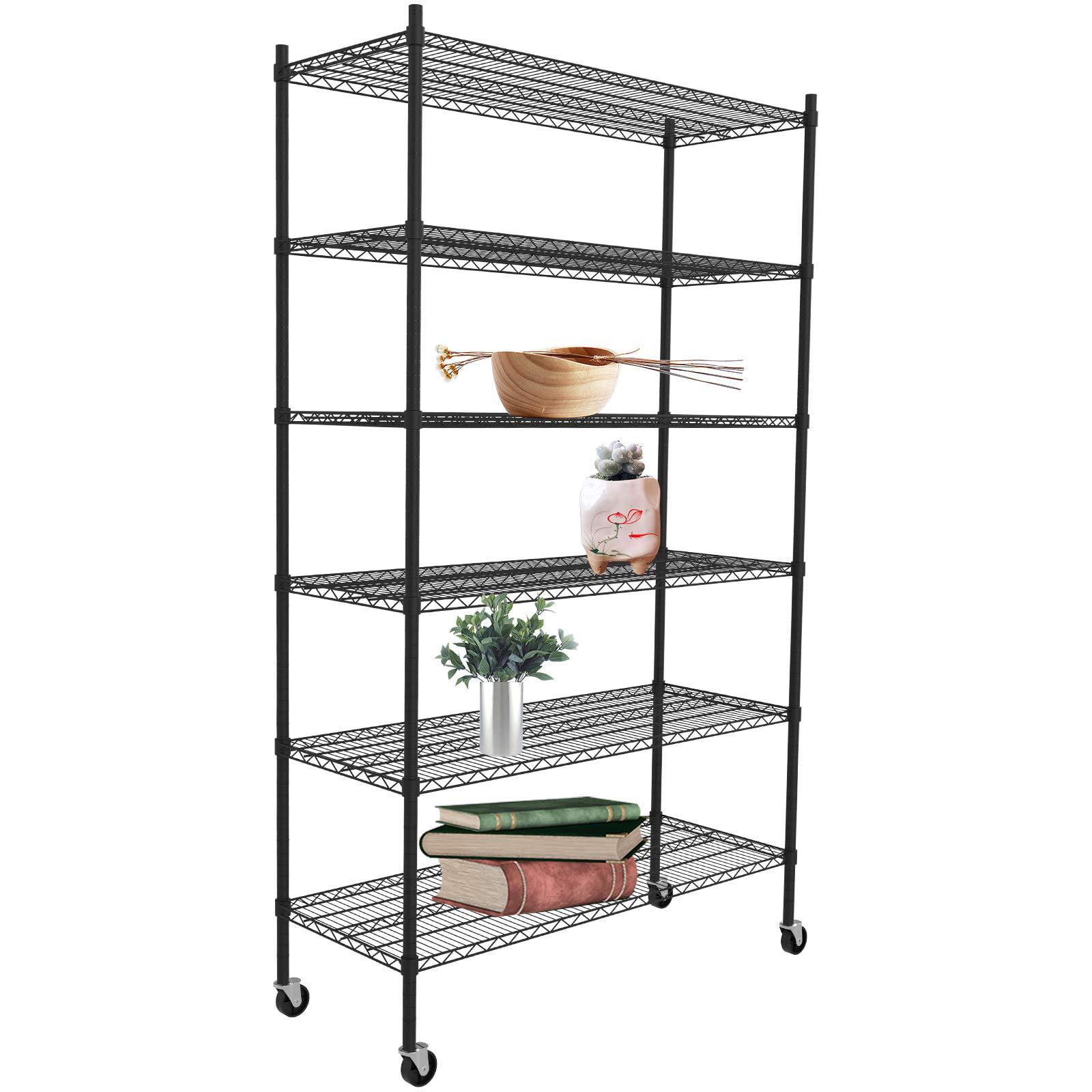 suncoo storage metal shelf 82 u0026quot  height 6 tier wire shelf