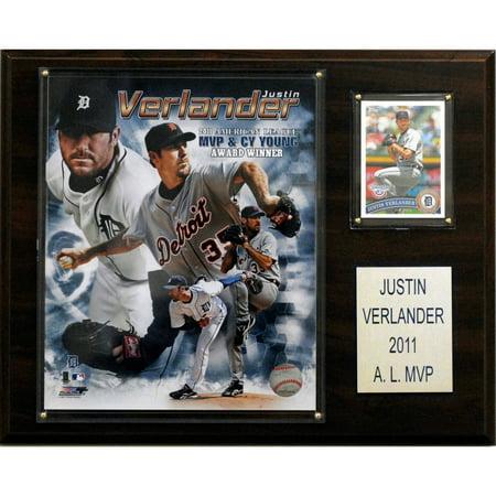 C&I Collectables MLB 12x15 Justin Verlander 2011 MVP Detroit Tigers Player Plaque