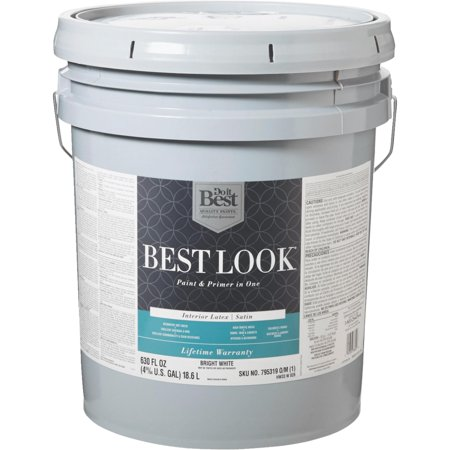 Best Look Latex Paint Primer In One Satin Interior Wall