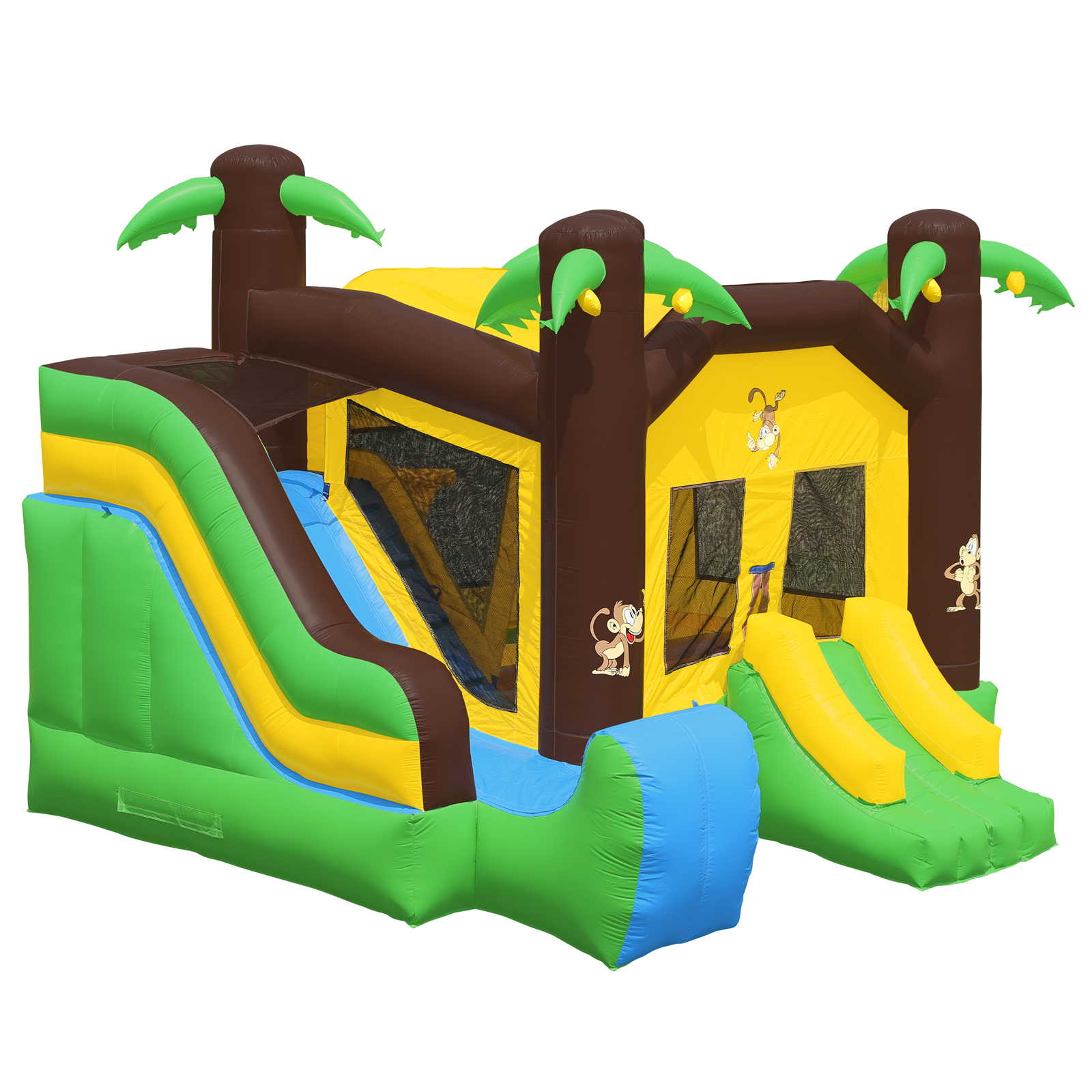 Inflatable HQ Commercial Grade Jungle Bounce House 100% PVC with Blower and Slide