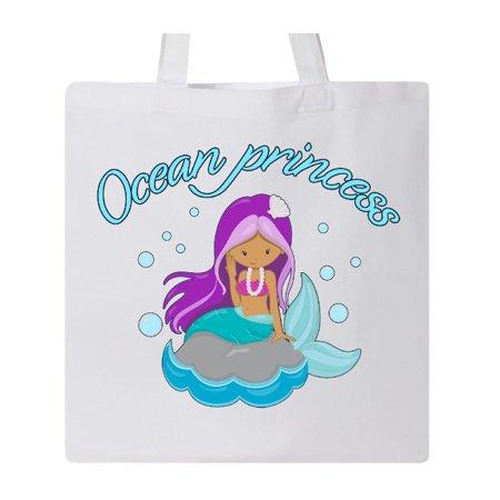 Inktastic Ocean Princess Purple Haired Mermaid Tote Bag Mermaids Little Sea Swim