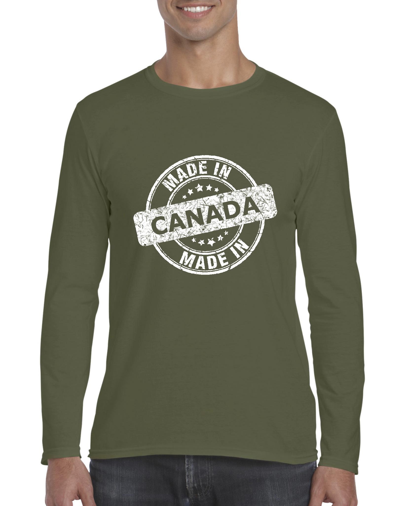 Artix Canada T Shirt Made In Canada Artix Softsyle Long Sleeve