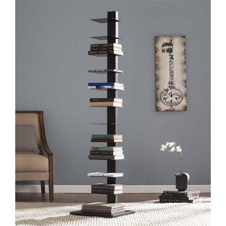 Spine Tower Shelf In Jet Black