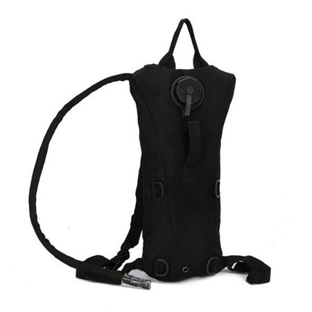 Ourdoor Sport Hydration Pack with 3L Backpack Water Bladder Water Bag Pouch for Fishing Hiking Camping Color:Black