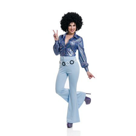 Halloween 70'S Women Disco Pants - Powder (70's Disco Costumes For Sale)