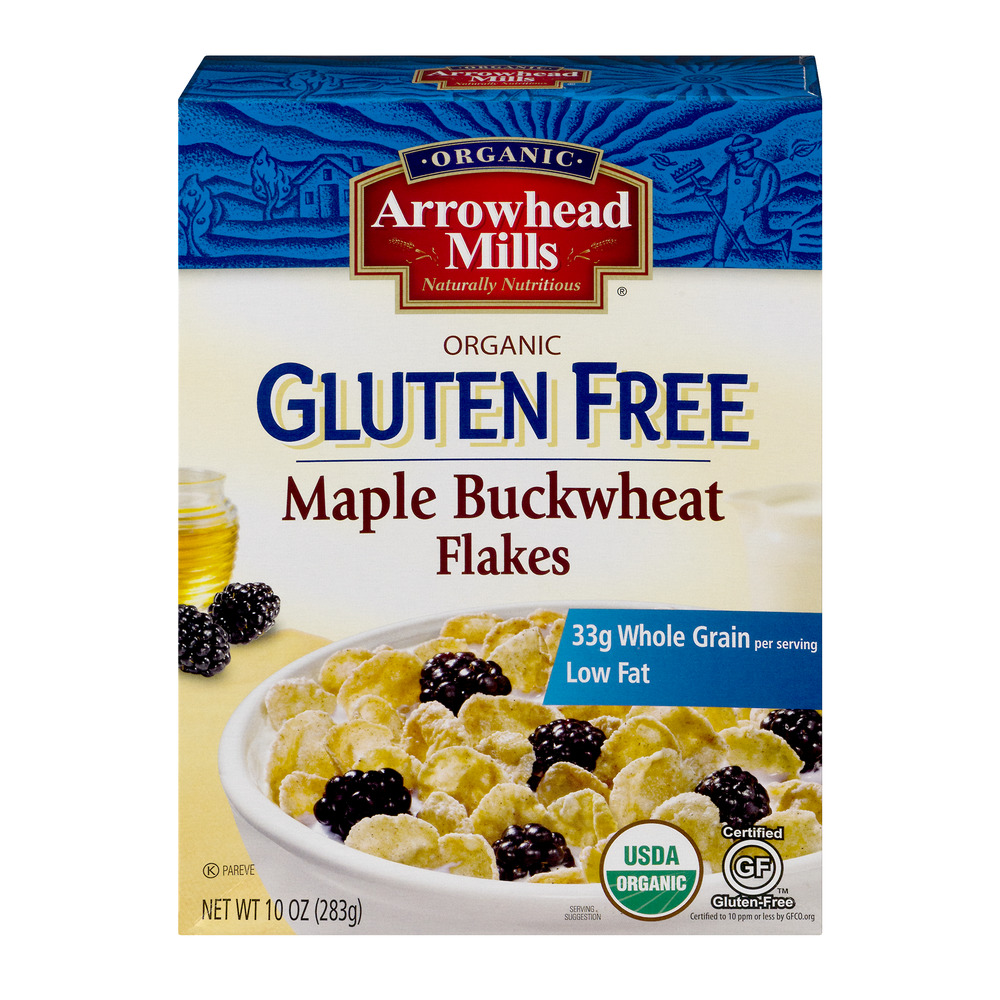 Arrowhead Mills Organic Gluten Free Cereal, Maple Buckwheat, 10 Oz