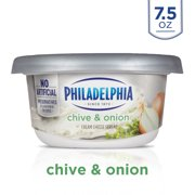 Philadelphia Chive and Onion Cream Cheese Spread, 7.5 oz. Tub