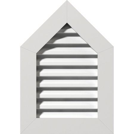 18 W x 34 H Peaked Top Gable Vent 23 W x 39 H Frame Size 12 12 Pitch