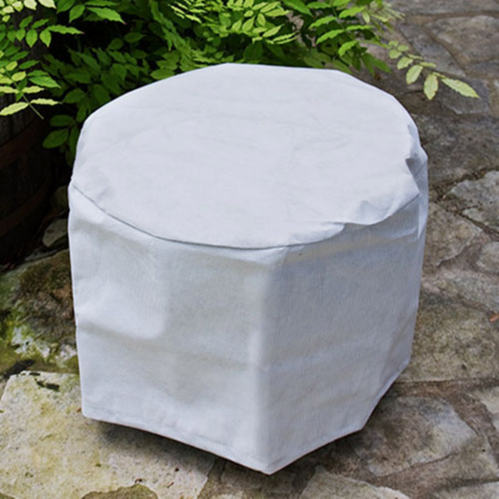 KoverRoos SupraRoos 22 in. White Round Table Cover
