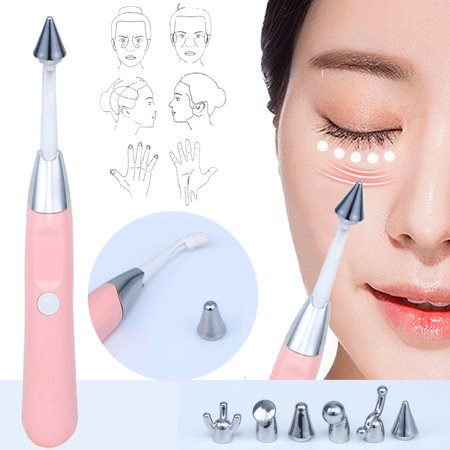 6 IN 1 Relief Tinnitus Pain Arthritic Headaches Eye Face Massager Tool 6 Tips  - image 2 of 8