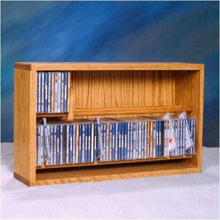 Wood Shed 200 Series 110 CD Multimedia Tabletop Storage Rack