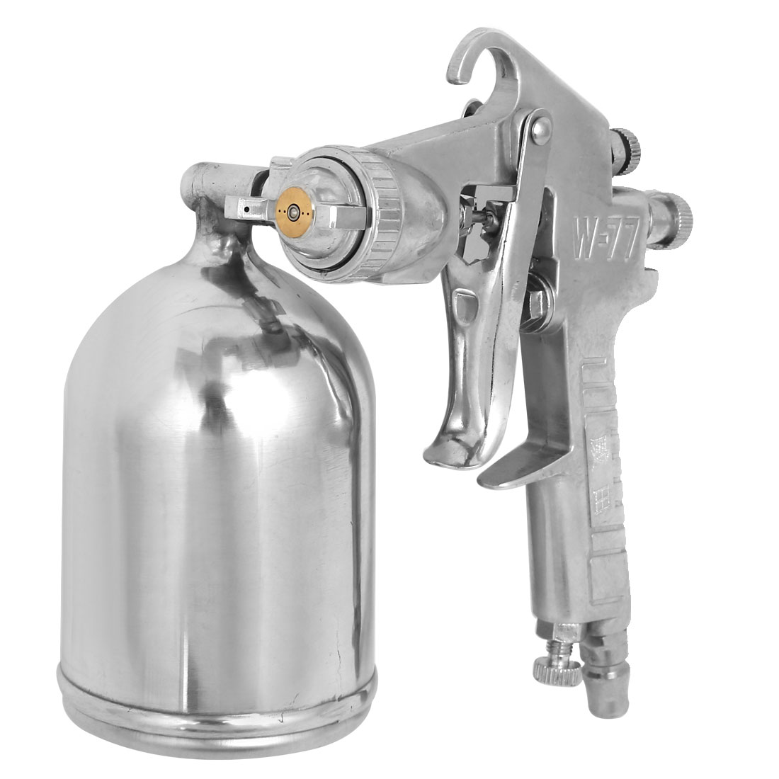 W-77 Spray Gun+400Cc Cup Sprayer Paint Tool Set Silver Tone