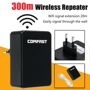 300Mbps 2.4GHz Wireless WiFi Repeater 300M Long Range Wireless WIFI Signal Extender WIFI Amplifier WIFI Signal Extention Mini AP Router Signal Booster for Home Living Room Cafe